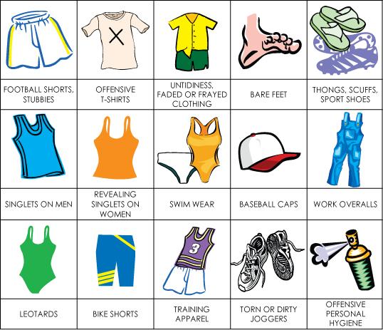 Ryde Eastwood Leagues Club Dress Regulations